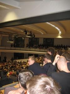 Audimax der Uni Karlsruhe während Schäubles Rede